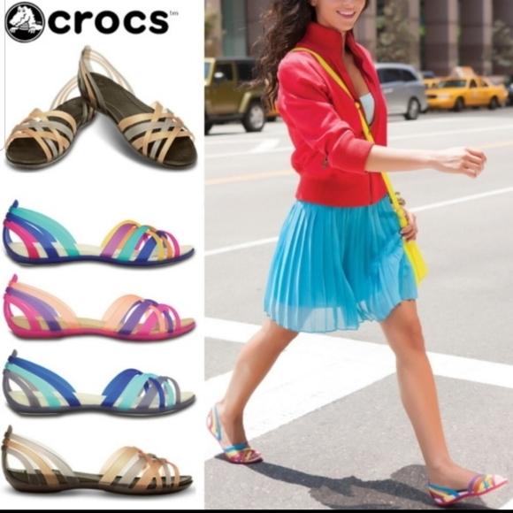 Crocs Huarache Jelly Sandals Sz 6